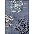 Alliyah Handmade Moon Light Blue New Zealand Blend Wool Rug (9' x 12')