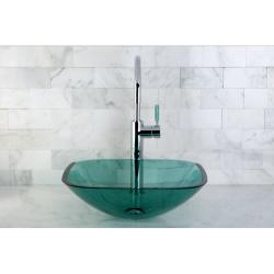 Square Green Vessel Sink