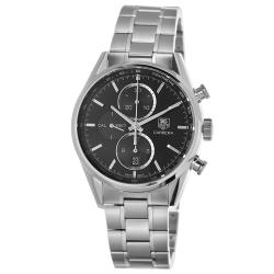Tag Heuer Men's CAR2110.BA0720 'Carrera' Black Dial Automatic Chronograph Watch