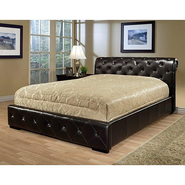 ABBYSON LIVING Delano Dark Brown Bi-cast Leather King-size Bed