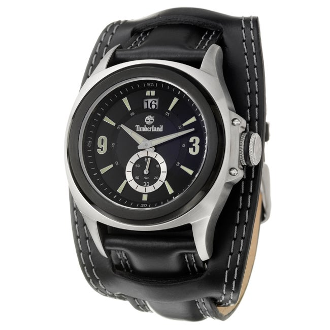 Timberland Men's 'Block Island' Stainless Steel and Leather Quartz Watch