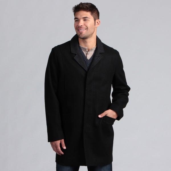 Nautica Men's Button Front Wool Blend Coat