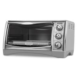 Black & Decker CTO4500S 6-Slice CounterTop Convection Oven with Pizza Bump (Refurbished)