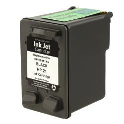 INSTEN HP 21/ C9351AN Black Ink Cartridge for DeskJet 3910/ 3930 (Remanufactured)