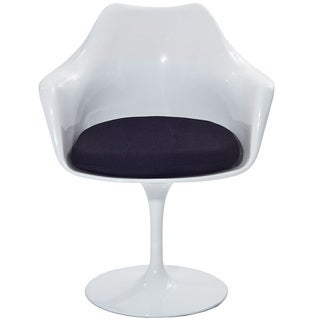 Eero Saarinen Style Tulip Arm Chair with Black Cushion