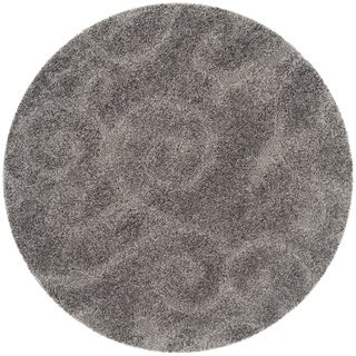 Safavieh Ultimate Dark Grey/ Beige Shag Rug (4' Round)