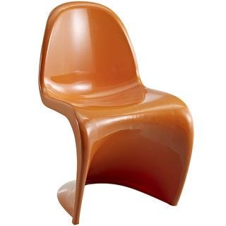 """S"" Style Orange Chair"