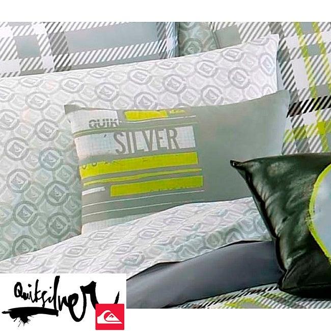 Quiksilver Disruptor Grey Microfiber Decorative Pillow