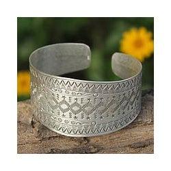 Sterling Silver 'Thai Constellations' Cuff Bracelet(Thailand)