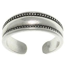 CGC Sterling Silver Bali Edge Toe Ring