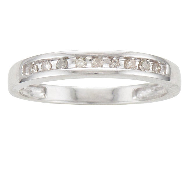 Sterling Silver 1/10ct TDW Diamond Ring (I-J, I2-I3)