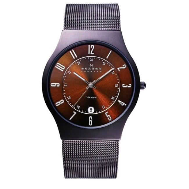 Skagen Men's Titanium Brown Espresso Dial Watch