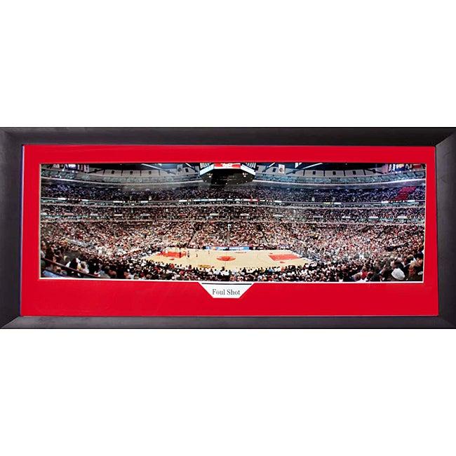 Chicago Bulls 'Foul Shot' Panoramic Frame