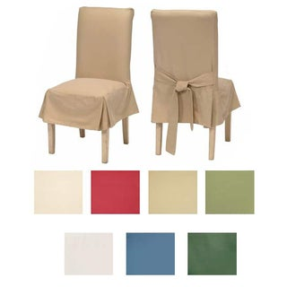 Classic Cotton Duck Dining Chair Slipcovers 2 Pc
