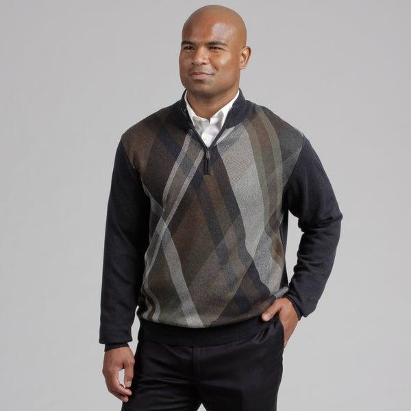 Alex Cannon Men's Quarter Zip Sweater
