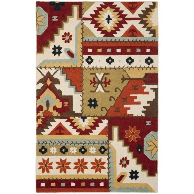 Safavieh Hand-hooked Southwest Wool Rug (5'3 x 8'3)