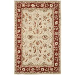 Safavieh Hand-hooked Oushak Ivory/ Rust Wool Rug (8'9 x 11'9)
