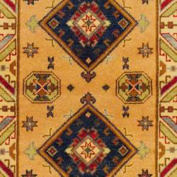 Indo Hand-knotted Kazak Peach/ Beige Wool Rug (3' x 5')