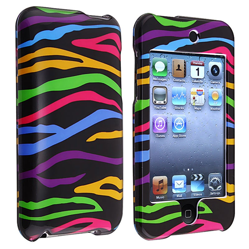 Black/ Colorful Zebra Snap Case for Apple iPod Touch Generation 2/ 3