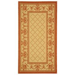 Safavieh Poolside Natural/Terracotta Indoor Outdoor Rug (2' x 3'7)