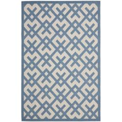 Safavieh Poolside Beige/ Blue Indoor Outdoor Rug (8' x 11'2)