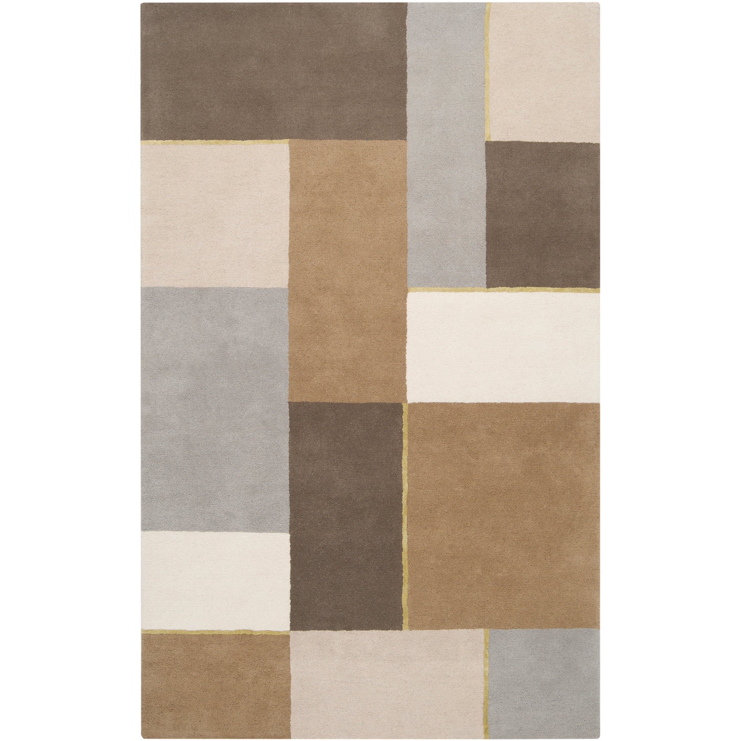 Harlequin Hand-tufted Multi Opaque Geometric Pattern Wool Rug (8' x 10')
