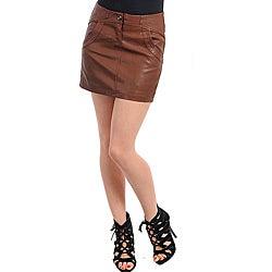 Stanzino Women's Plus-size Coffee Brown Mini Skirt