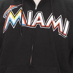 Stitches Men's Miami Marlins Full Zip Hoodie