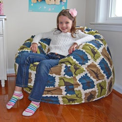 Ahh Products Blue Dinosaurs Cotton Washable Bean Bag Chair