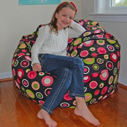 Ahh Products Bubbly Watermelon Cotton Washable Bean Bag Chair
