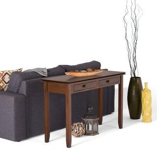 WYNDENHALL Stratford Auburn Brown Console Sofa Table