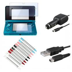 INSTEN Cable/ Stylus/ Screen Protector/ Car Charger for Nintendo 3DS