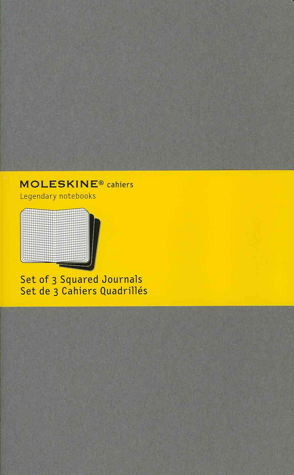 Moleskine Cahier Light Warm Grey, Large: Set of 3 Squared Journals / Set De 3 Cahiers Quadrilles (Notebook / blank book)