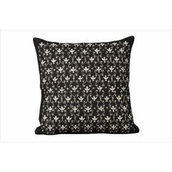 Nourison Nourison Luminecence Black Fleur de Lis Pillow (1'8 x 1'8)