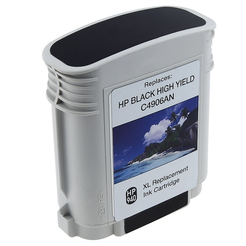 INSTEN HP 940XL/ C4906AN/ C4902AN Black Ink Cartridge (Remanufactured