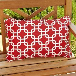 Penelope Red Indoor/ Outdoor Pillows (Set of 2)