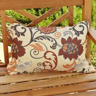 Clara Beige/ Grey Indoor/ Outdoor Sunbrella Accent Pillows (Set of 2)