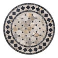 Tan/Black Marble Tile Top Bistro Table