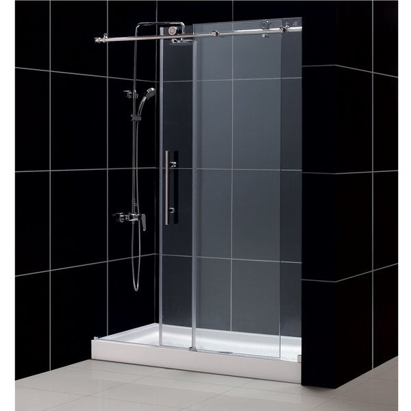 Enigma-X Shower Door and Amazon Shower Base 30x60-inch Tub To Shower Kit