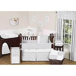 Sweet JoJo Designs Diamond 9-piece Crib Bedding Set in Grey