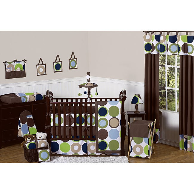 Sweet Jojo Designs Designer Dot 9-piece Crib Bedding Set
