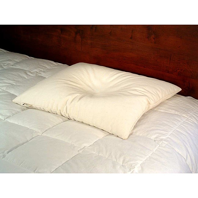 Bean Products - Wheat Dreamz - White Cotton Buckwheat-filled Pillow