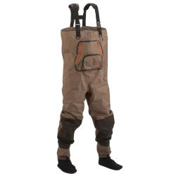 Hodgman Tan/Brown Neoprene Side-release Booted Pipestone Chest Waders
