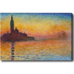 Claude Monet 'San Giorgio Maggiore at Dusk' Hand-painted Oil on Canvas