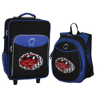 "Obersee Kids ""Racecar"" 2-piece Backpack and Carry On Upright Luggage Set"