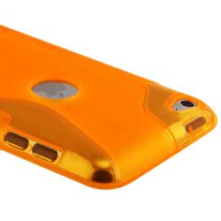 Frost Orange S Shape TPU Rubber Case for Apple iPod Touch Generation 4