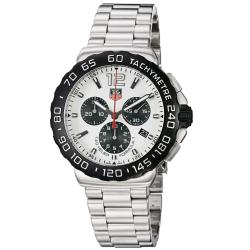 Tag Heuer Men's 'Formula 1' White Dial Chronograph Steel Watch