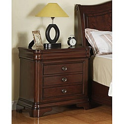 Caspian 3-drawer Nightstand