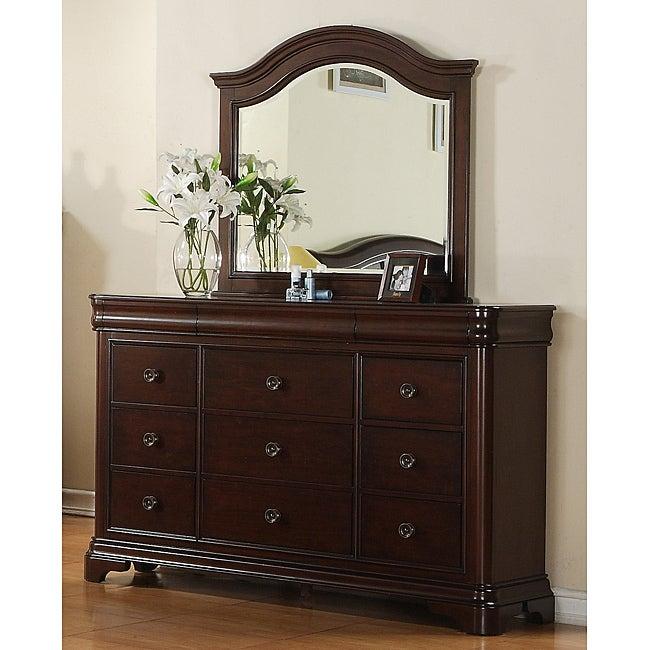 Caspian 12-Drawer Dresser and Mirror