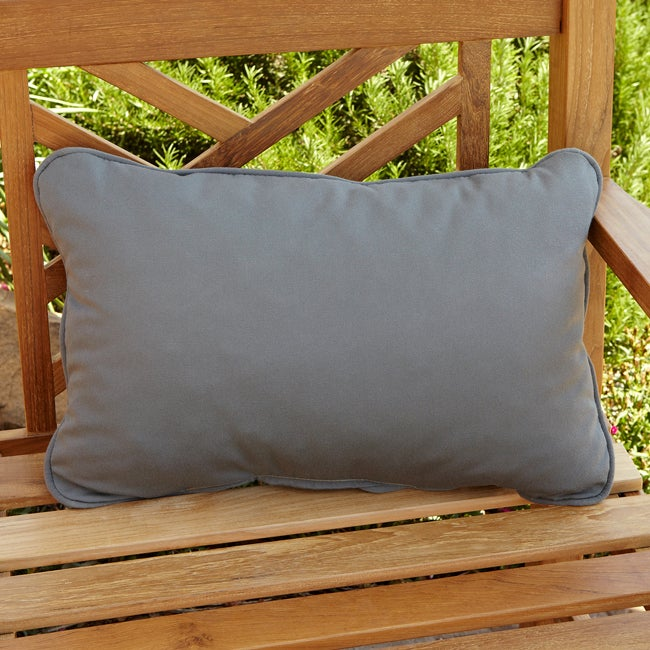 Clara Grey Outdoor Sunbrella Pillows Set of 2